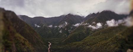 Clouds over mountains Andes Cusco Region Peru