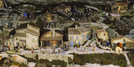 Model of a traditional town