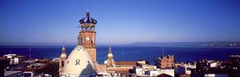 Cathedral City and Bay Puerto Vallarta Mexico