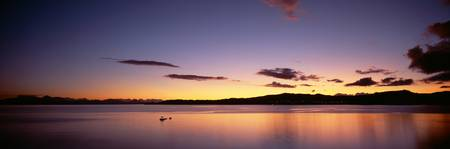 Sundown Lake Taupo North Island New Zealand