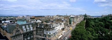 Princes Street view from St. Johns Church Edinbur