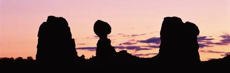 Balanced Rock at dawn Arches National Park Moab U