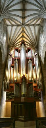 Pipe organ in a church St. Giles Cathedral Royal