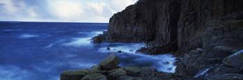 Rock formations at the coast Lands End Cornwall E