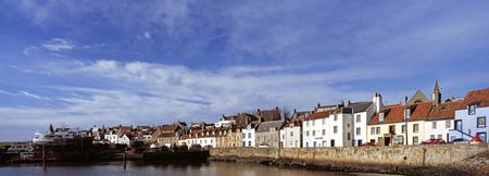 Buildings at a harbor St. Monans Fife Scotland