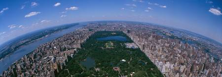 Aerial Central Park Manhattan New York City NY