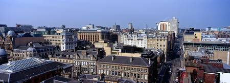 Cityscape with Glasgow City Centre Glasgow Scotla