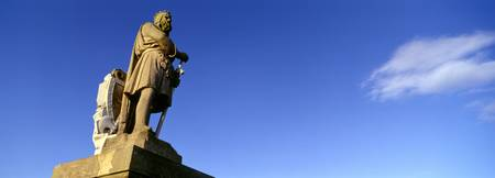 Low angle view of statue of Robert the Bruce Stir