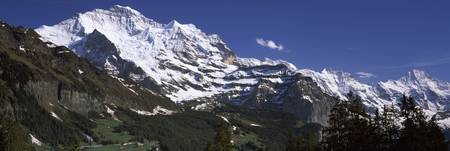 Low angle view of a mountain range Mt Jungfrau La