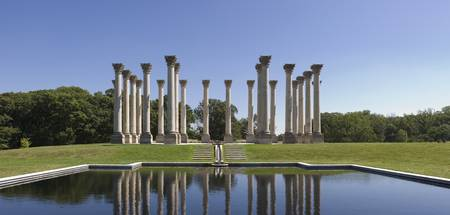 Columns at the poolside National Capitol Columns