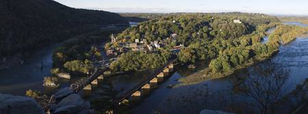 High angle view of a town Harpers Ferry Jefferson