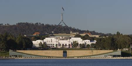 Parliament building at the waterfront Canberra Au