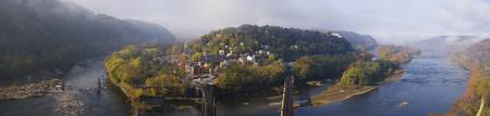Aerial view of an island Harpers Ferry Jefferson