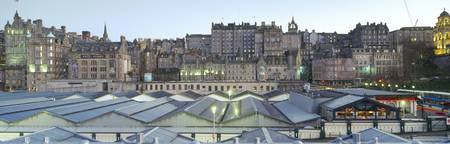 High angle view of a railroad station Edinburgh W
