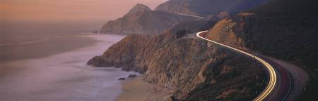 Dusk Highway 1 Pacific Coast CA
