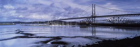 Bridges across a river Firth Of Forth Road Bridge