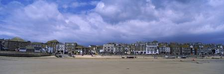 Town at the waterfront St. Ives Cornwall England
