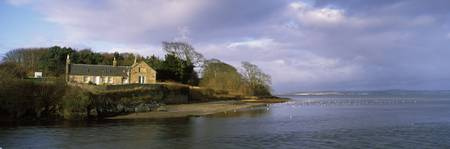 Building on an island River Almond Cramond Firth