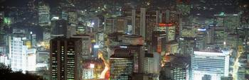 Night Cityscape Seoul South Korea