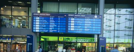 Arrival departure board at a railway station