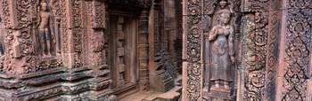 Detail Banteay Srei Angkor Complex Cambodia