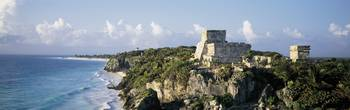 Temple of Descending God El Castillo Tulum Mexico