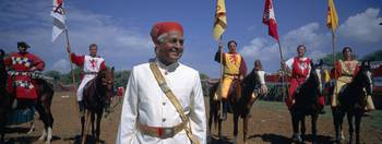 Maharajah with German horse knights