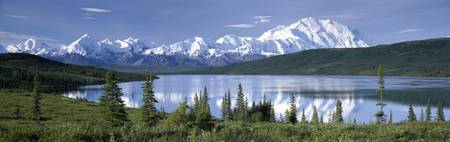 Mt McKinley Alaska Range Wonder Lake Denali Natio