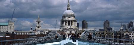 Cathedral in a city St. Pauls Cathedral Millenniu