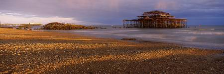 Pier on the beach at sunset West Pier Brighton Ea