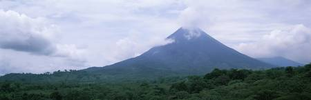 Clouds over a mountain peak Arenal Volcano Alajue