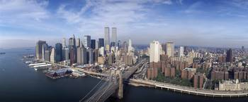 Aerial Manhattan  Brooklyn Bridge New York City N