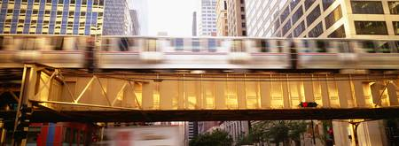 The EL Elevated Train Chicago IL