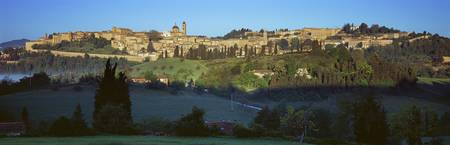 Town at the waterfront Urbino Marches Italy