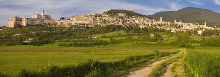 Village on a hill Assisi Perugia Province Umbria