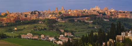 High angle view of a cityscape Orvieto Umbria Ita