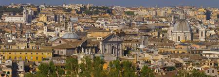 High angle view of a cityscape Rome Lazio Italy