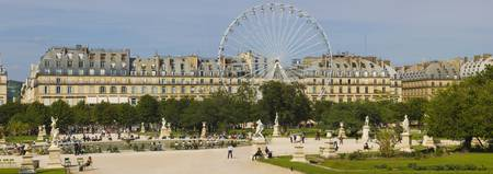 Tourists in a garden Jardin de Tuileries Paris Il