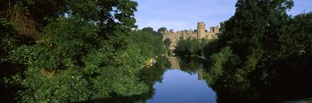 Castle at the riverbank Warwick Castle Avon River