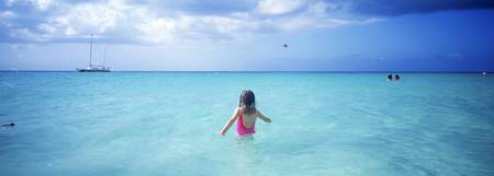 Girl in Ocean Jamaica