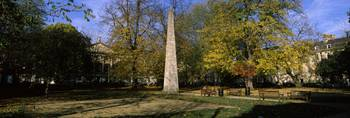 Obelisk on a town square Queen Square Bath Somers
