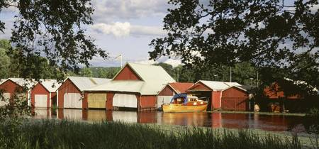 Red Houses and Huts for Fishermen Sweden
