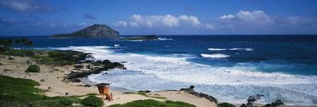 Coastal waves on Makapuu Beach