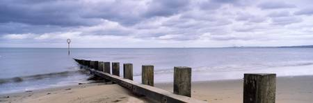 Jetty on the beach Portobello Edinburgh Scotland