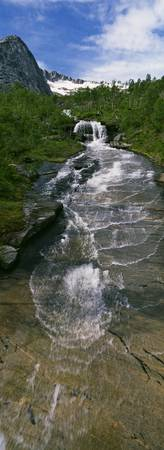 Mountain stream over slick rock