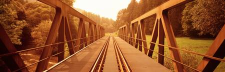Railroad Tracks and Bridge Germany