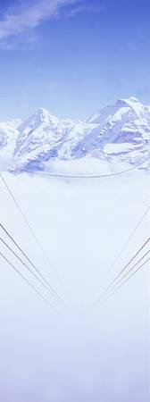 Fog and Cable Car Switzerland