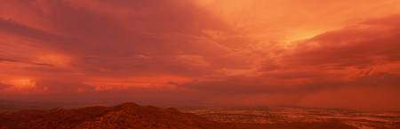 Thunderstorm at Sunset South Mountain Park  Phoen