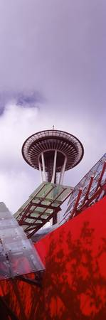 Low angle view of a tower Space Needle Seattle Ki