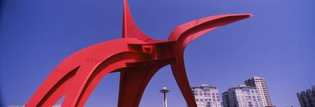Low angle view of a sculpture Olympic Sculpture P